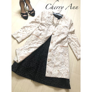 チェリーアン(cherry Ann)のチェリーアン 極美品フラワーレースロング コート(ロングコート)