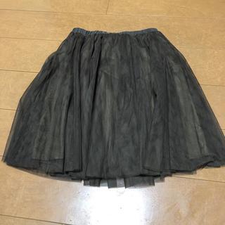 アンレリッシュ(UNRELISH)のカーキ チュールスカート(ひざ丈スカート)