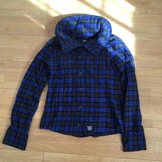 バックス(BACKS)の2wayチェックシャツ(シャツ/ブラウス(長袖/七分))