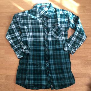 バックス(BACKS)のグラデーションチェックシャツ(シャツ/ブラウス(長袖/七分))