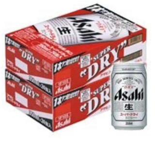 アサヒ(アサヒ)の送料込み アサヒスーパードライ350ミリ 2ケース(ビール)