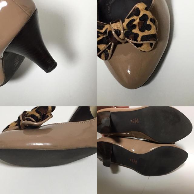 DIANA(ダイアナ)の美品 ダイアナ パンプス レオパード リボン 23.5 レディースの靴/シューズ(ハイヒール/パンプス)の商品写真