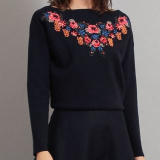 ザヴァージニア(The Virgnia)のザ ヴァージニア クラシカルな雰囲気が魅力のフラワー刺繍ニット♡(ニット/セーター)