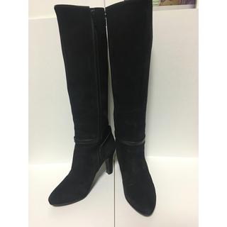 ダイアナ(DIANA)の美品 ダイアナ スエード ロングブーツ 23.5 黒(ブーツ)