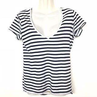 ザラ(ZARA)のザラ ボーダー Vネック Tシャツ(Tシャツ(半袖/袖なし))