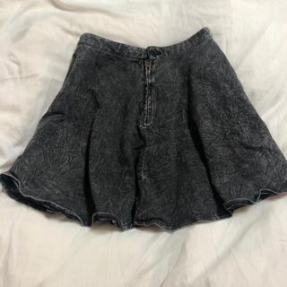 ジーユー(GU)のGU フレアデニムスカート(ミニスカート)
