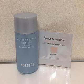 アクセーヌ(ACSEINE)の未使用 アクセーヌ モイストバランスローション 化粧水、日焼け止め サンプル(サンプル/トライアルキット)