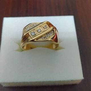 アヴァランチ(AVALANCHE)の10K イエローゴールドリング ダイヤモンド 18号(リング(指輪))