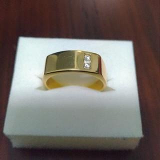 アヴァランチ(AVALANCHE)の14K イエローゴールドリング ダイヤモンド 18号(リング(指輪))