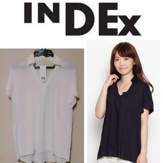 インデックス(INDEX)の新品未使用/INDEX/インデックス/ベルスリーブ/スキッパーシャツ(シャツ/ブラウス(半袖/袖なし))
