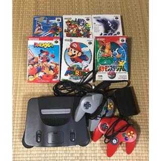 ニンテンドウ64(NINTENDO 64)の任天堂 Nintendo64 本体 ソフト 機械 テレビゲーム ゲーム機(家庭用ゲーム本体)