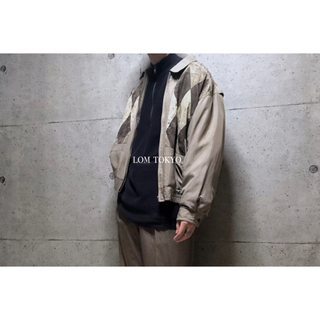 [used]silk zip-up blouson/jacket.(ブルゾン)