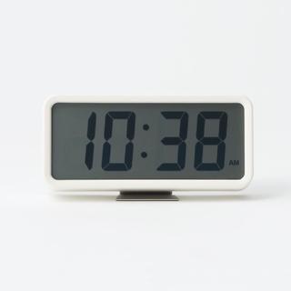 MUJI (無印良品) - ★新品未開封★ 無印良品デジタル時計・中 掛置時計/ホワイト