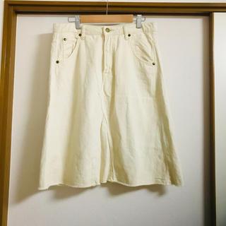 セポ(CEPO)の【CEPO DENIM/セポ 】ライトベージュのリメイク風デニムスカート L(ひざ丈スカート)