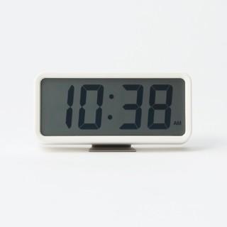 MUJI (無印良品) - ●新品未開封● 無印良品デジタル時計・中 掛置時計/ホワイト