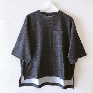 ティップトップ(tip top)のTip Top  5分袖 Tシャツ ダークグレー(Tシャツ(半袖/袖なし))