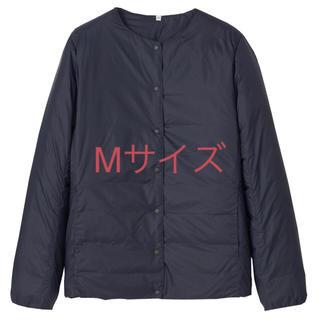 MUJI (無印良品) - 無印ノーカラーブルゾン ダークネイビー       Mサイズ新品