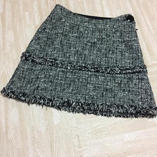 ジャイロ(JAYRO)のJAYRO スカート ツイード 黒 ジャイロ ブラック ミニ M 秋 冬 (ミニスカート)