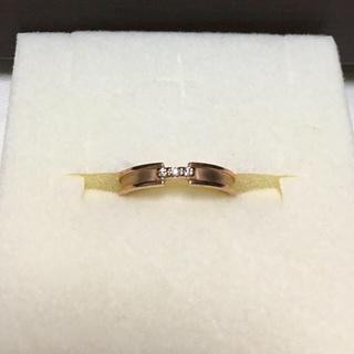 ジュエリーツツミ(JEWELRY TSUTSUMI)のTSUTSUMI ダイアモンド ピンクゴールド 指輪 7号(リング(指輪))