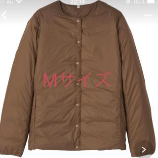 MUJI (無印良品) - 無印ノーカラーブルゾン ブラウン     Mサイズ新品