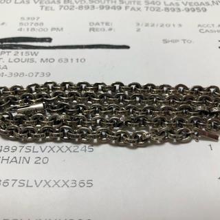 クロムハーツ(Chrome Hearts)の極美品 クロムハーツ    ペーパーチェーン 20インチ 52センチ(ネックレス)