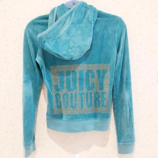 ジューシークチュール(Juicy Couture)のジューシークチュール ベロアパーカー&パンツ上下セット 3回程度着用のみ 美品!(パーカー)