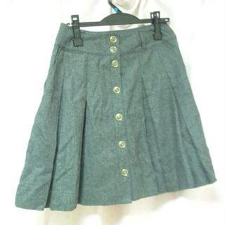 プーラフリーム(pour la frime)のリボン*ツイードスカート(ひざ丈スカート)