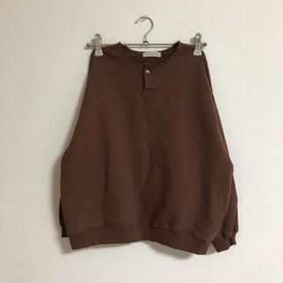 コドモビームス(こどもビームス)のmarvi ヘンリーネックスウェット ブラウン JS 140(Tシャツ/カットソー)