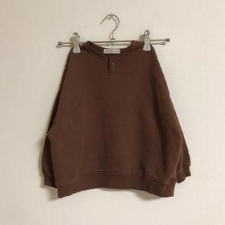コドモビームス(こどもビームス)のmarvi ヘンリーネックスウェット M 100 ブラウン(Tシャツ/カットソー)
