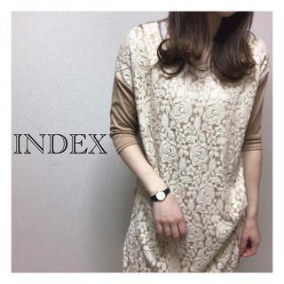 インデックス(INDEX)のindex 異素材レースワンピース ザラ ユニクロ ジーユー ローリーズ KBF(ミニワンピース)