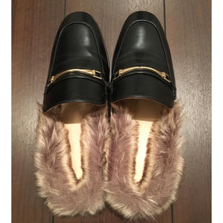 ジーユー(GU)の新品!!GU ファーローファー Lサイズ!!(ローファー/革靴)