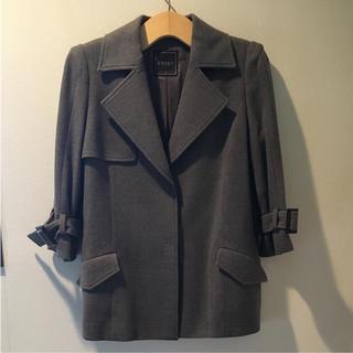 フォクシー(FOXEY)の美品 FOXEY ウールコート 40(テーラードジャケット)