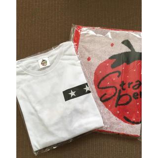 ニュース(NEWS)のNEWS 15th strawberry  タオル Tシャツ(アイドルグッズ)
