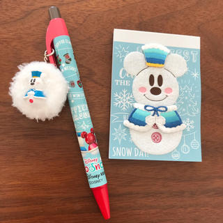 Disney - 【バラ売り☻】ディズニーリゾート スノースノー 2018 ボールペン メモ帳