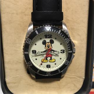 Disney - ミッキー腕時計 本革 LA