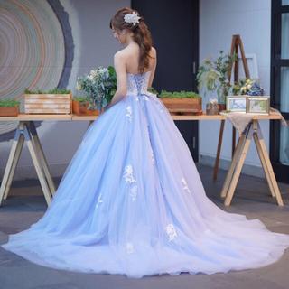 くすみブルーカラードレス ウェディングドレス(ファーストオーナー)