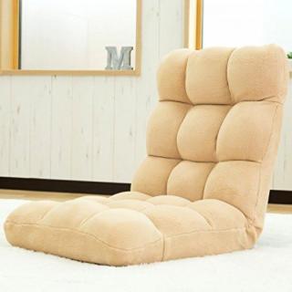 激安商品★人気No.1★超ふわふわ!座椅子!リクライニング ベージュ(座椅子)