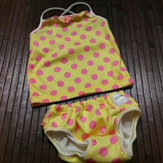 ニシキベビー(Nishiki Baby)の新品同様 100サイズ  女の子 水遊びパンツ  セパレート 水着 タンキニ(水着)