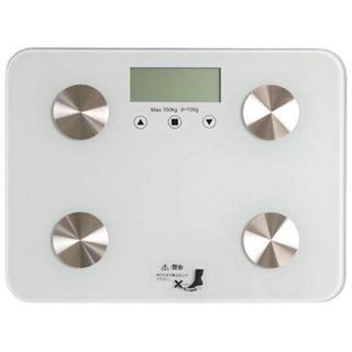 ♡超薄型♡ 体重計 ヘルスメーター ホワイト(体重計/体脂肪計)