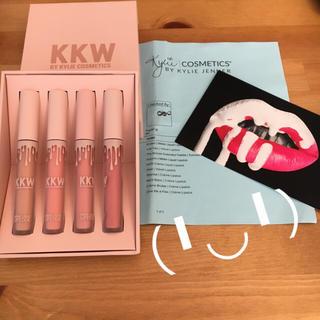 カイリーコスメティックス(Kylie Cosmetics)の新品本物 KKW kkw beauty ヌードリップ 4本セット レシート付き(口紅)