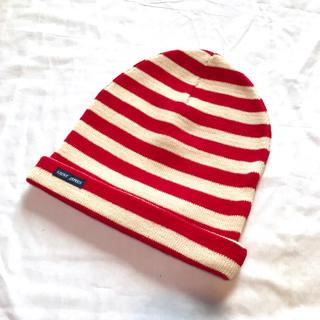 セントジェームス(SAINT JAMES)の美品【セントジェームズ】フランス製 ボーダーニット帽 レトロ ニットキャップ(ニット帽/ビーニー)