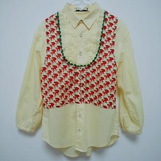 ネネット(Ne-net)のネネット 黄色キツネ柄タック入りシャツ(シャツ/ブラウス(長袖/七分))