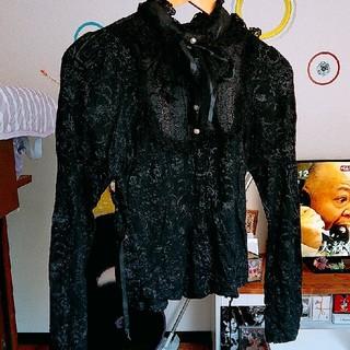 エイチナオト(h.naoto)のh.naoto 黒 ブラウス シャツ (シャツ/ブラウス(長袖/七分))