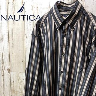 ノーティカ(NAUTICA)の【激レア】NAUTICA ノーティカ ストライプ BD シャツ S(シャツ)