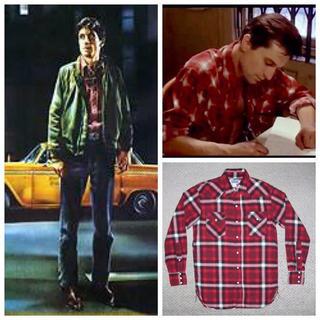ザリアルマッコイズ(THE REAL McCOY'S)の希少 リアルマッコイズ チェックネルシャツ タクシードライバーモデル(シャツ)
