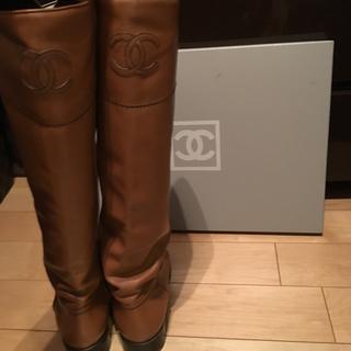 シャネル(CHANEL)のシャネル   ブーツ ロング リペア済 正規品 39(ブーツ)