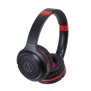 オーディオテクニカ(audio-technica)のオーディオテクニカ  新品 ワイヤレスヘッドホン 黒×赤(ヘッドフォン/イヤフォン)