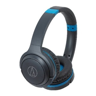 オーディオテクニカ(audio-technica)のオーディオテクニカ 新品 ワイヤレスヘッドホン 黒×青(ヘッドフォン/イヤフォン)