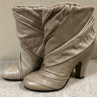 エムエムシックス(MM6)のメゾン マルタン マルジェラ ショート ブーツ ベージュ(ブーツ)