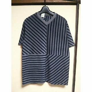 エヌハリウッド(N.HOOLYWOOD)のN.HOLLYWOOD 切替ストライプカットソー (Tシャツ/カットソー(半袖/袖なし))